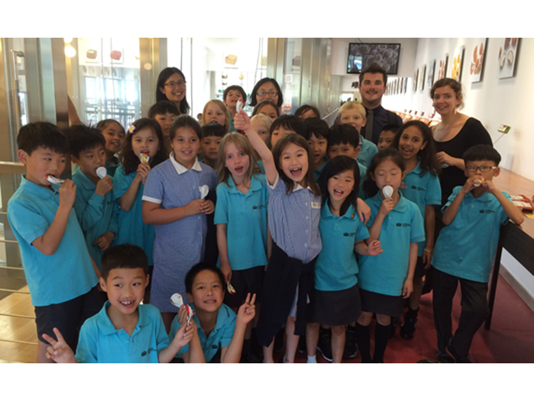 Year 3 students from the British International School Shanghai, Puxi visit Zotter's Chocolate Factory in Shanghai