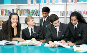 Secondary Students in Library