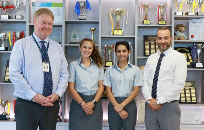 Dover Court International School Singapore, Maylis and Ishita Head Students 2019-2020