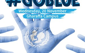 #GoBlue UNICEF World Children's Day - Gharaffa