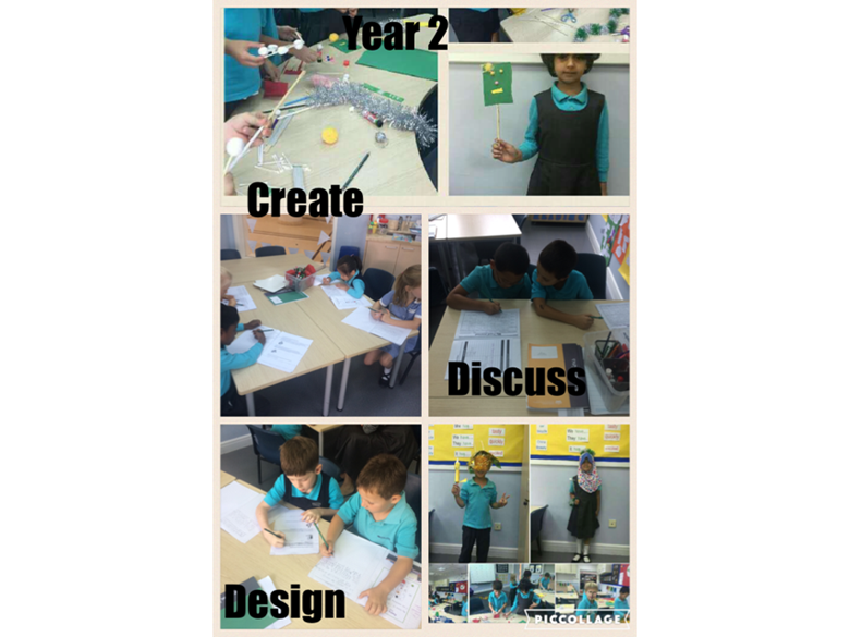 Year 2 create, discuss and design