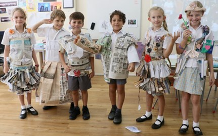 Dover Court International School Singapore Year 4 Recycled Fashion Design