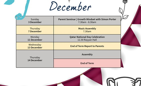 Rayyan What's on December