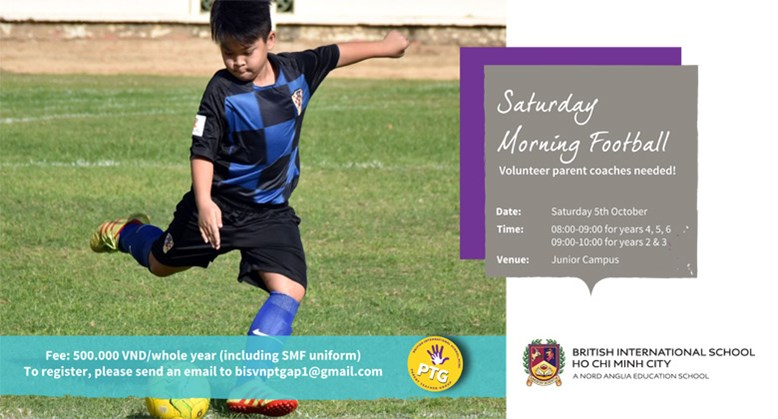 PTG Saturday Morning Football - BIS HCMC