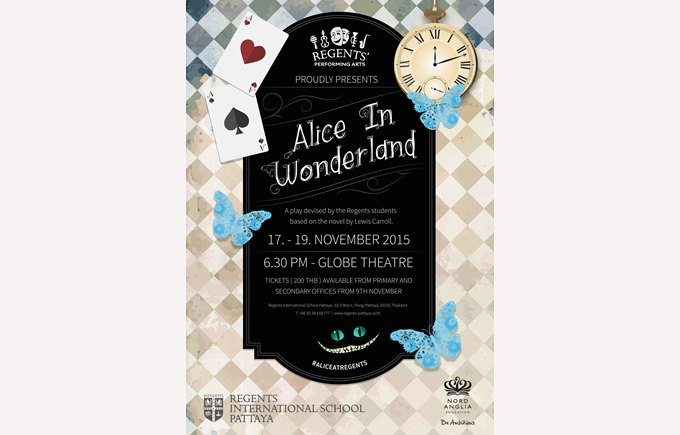 Alice in Wonderland Secondary Drama Music collaboration Regents International School Pattaya