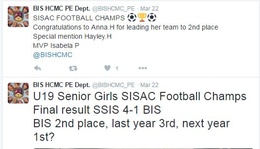 U19 Senior Girls SISAC Football Champs
