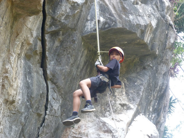 Abseiling at Marble Mountain