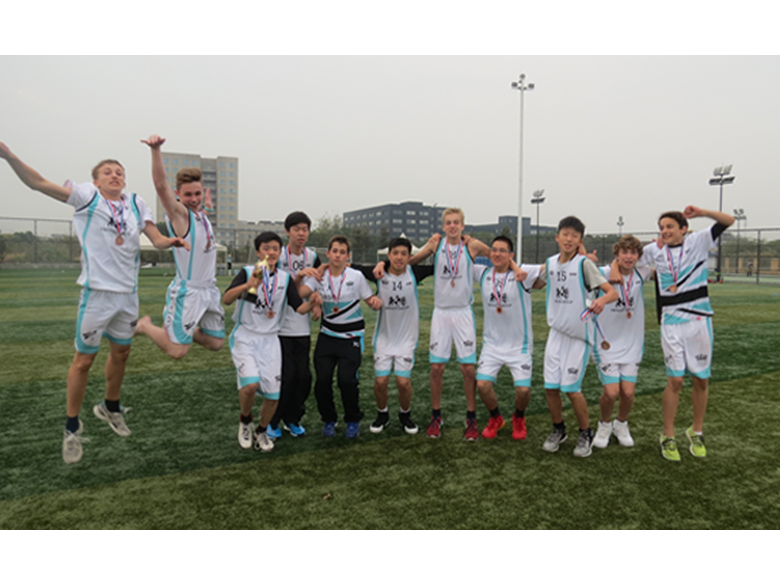 Students from the British International School Shanghai, Puxi take part in the FOBISIA Games 2014