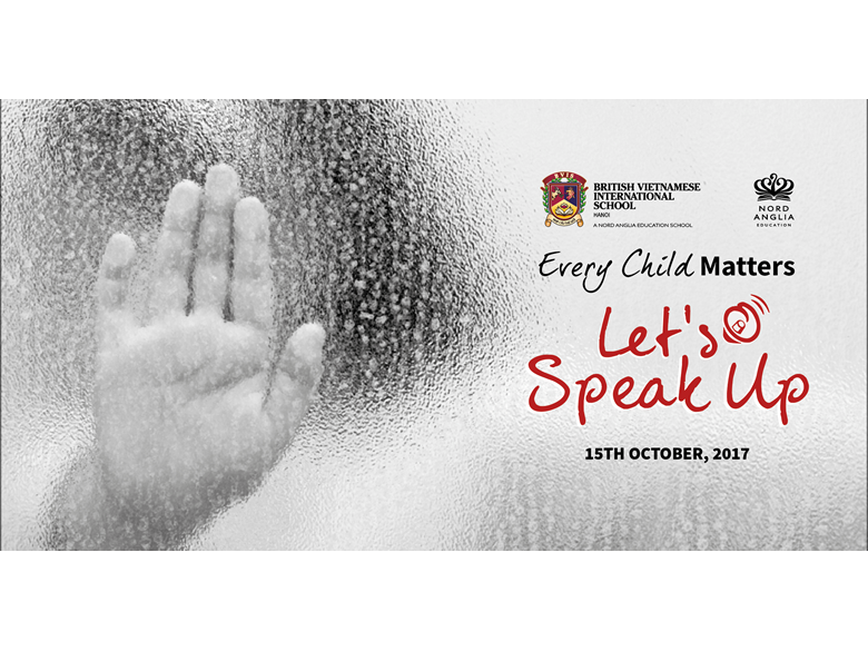 Every child matters: Let's speak up!