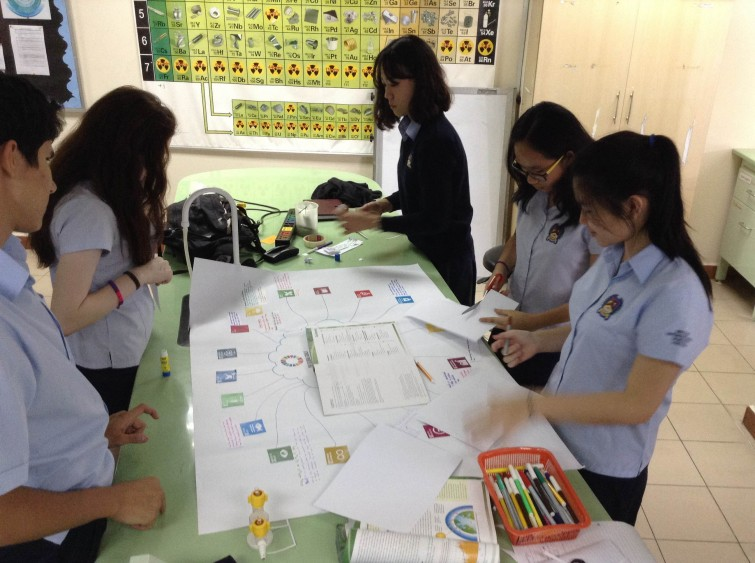 An Phu Secondary Students Researching the Global Goals