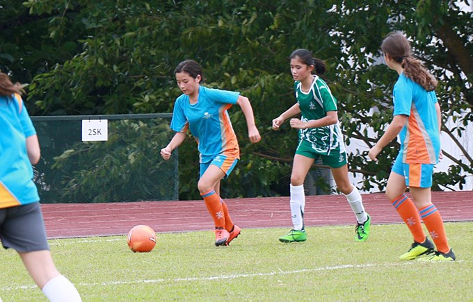 U14 Girls Football vs SJII