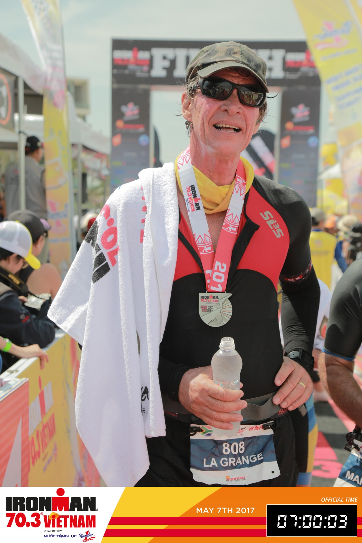 BISHCMC Athelete Chris La Grange in the Danang IRONMAN-min