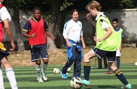 Football training session