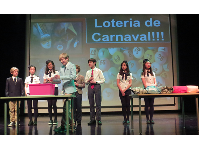 Year 8 students at the British International School Shanghai, Puxi celebrate Carnaval