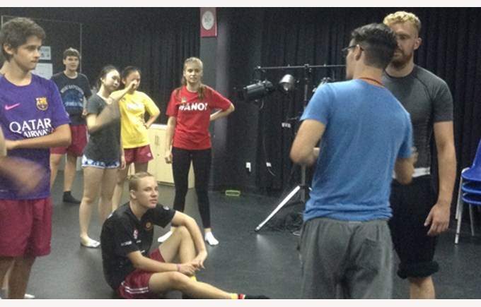 Nomad Theatre Company delivered a fast paced physical theatre workshop to IB and IGCSE students at BIS HCMC