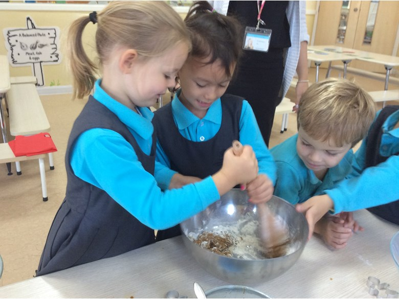 Reception Making Biscuits