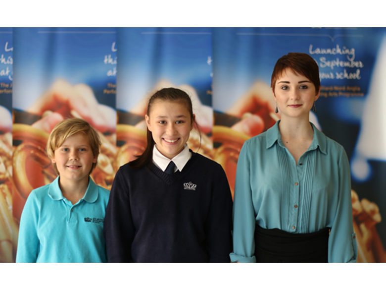 Our three musicians who will be attending the Global Orchestra in New York this summer