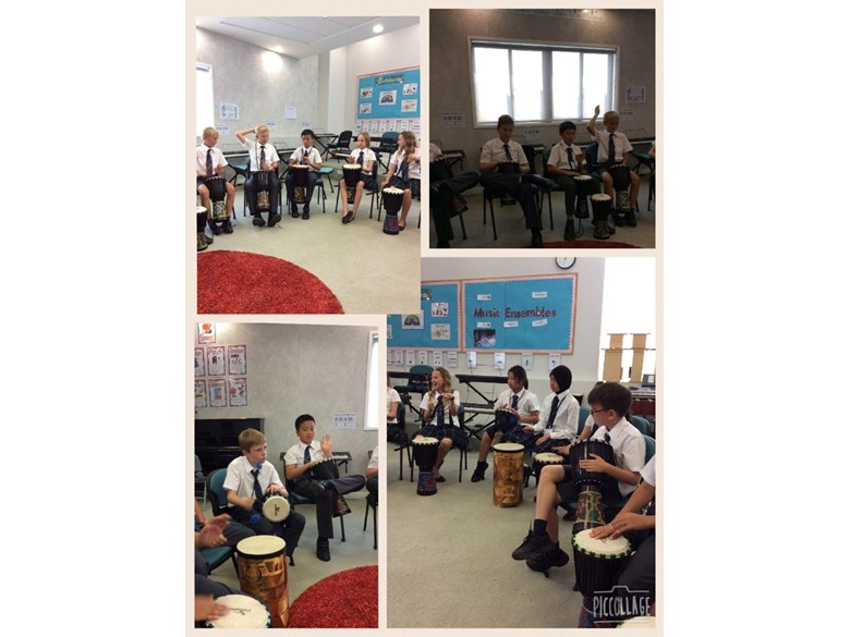 African Drumming in Year 6