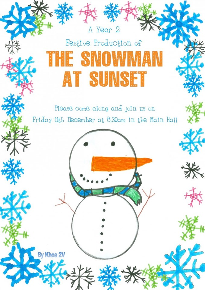 The Snowman at Sunset