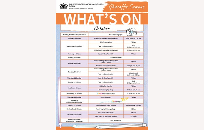 Gharaffa What's on in October
