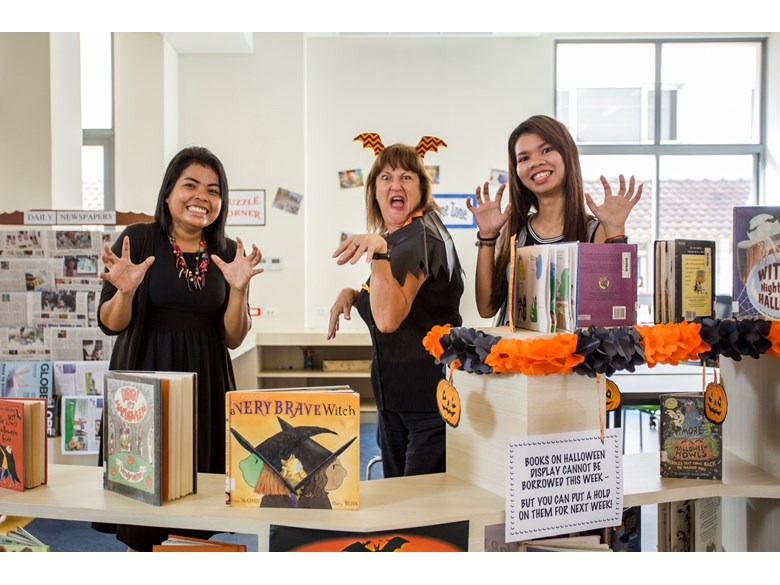 Halloween in the library