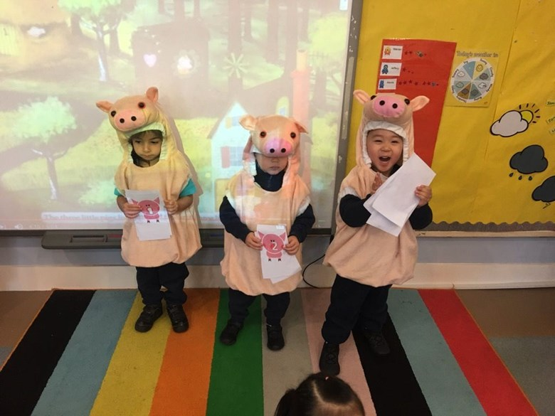 Learning the three little pigs