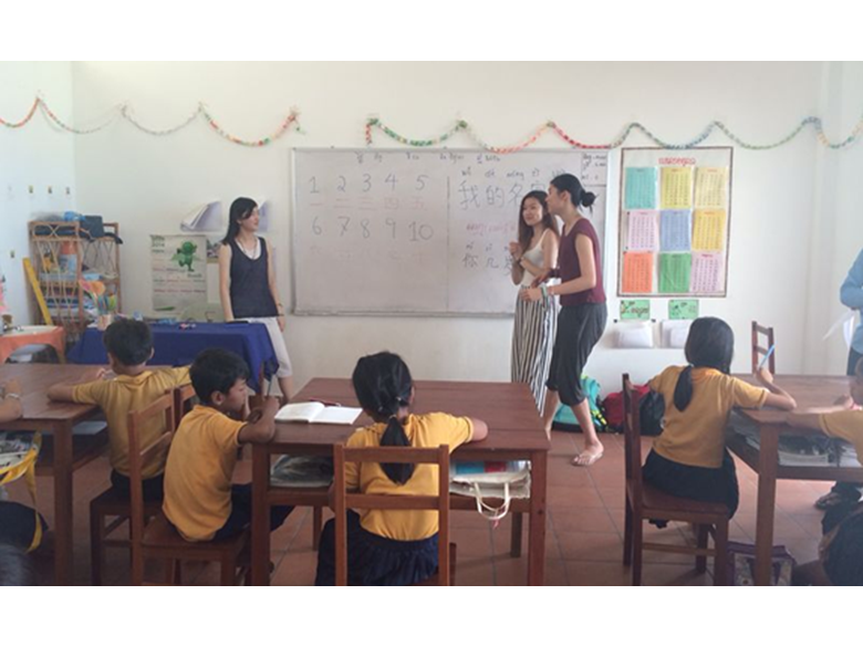 Year 12 teaching in the ISF school in Cambodia