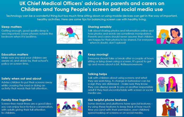 uk chief medical officers advice for parents