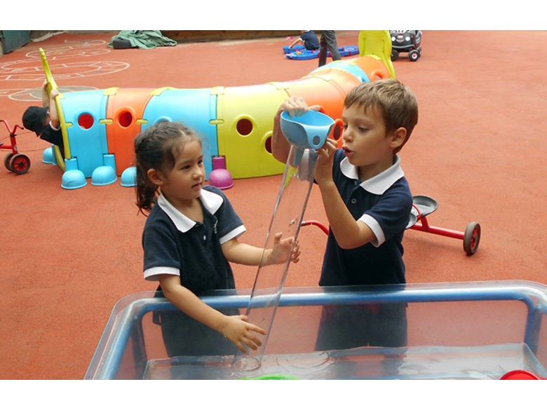 EY students on playground