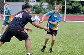 Sunwolves Rugby session at DCIS 2016