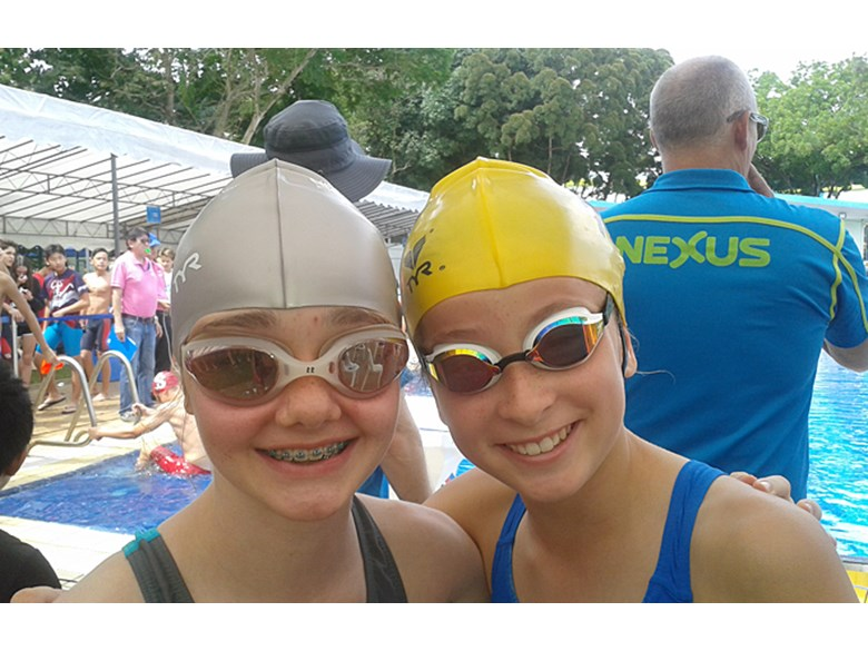 Dover Fins at the ACSIS Middle School Swim Meet