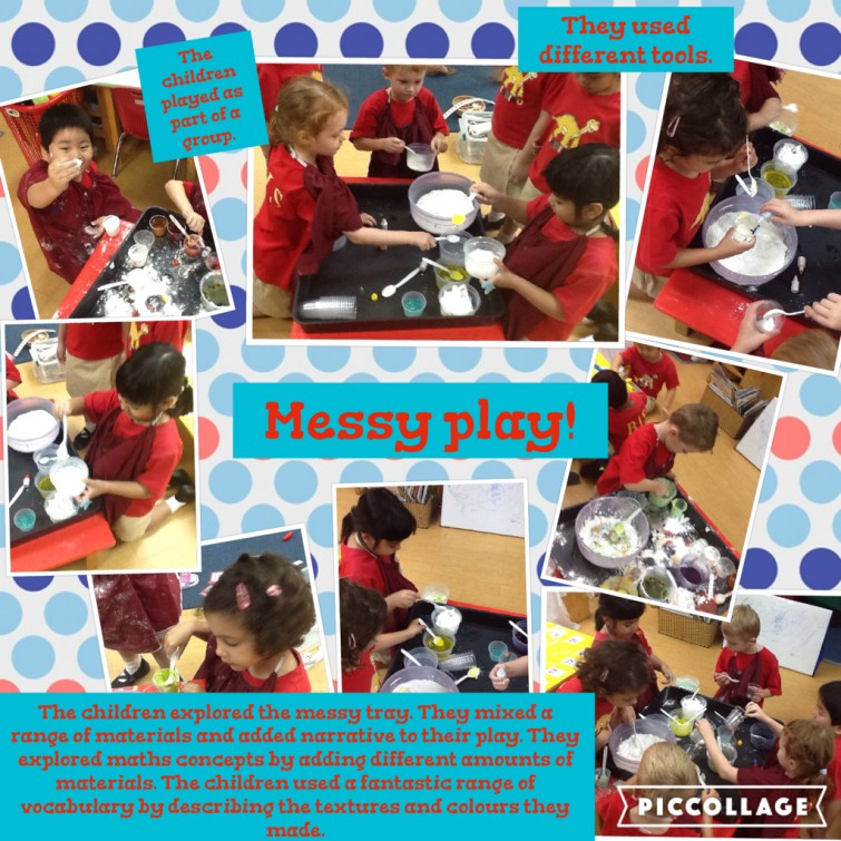 F3 students enjoy messy play