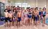 New Zealand's Olympic team swim coach coaches students at the British International School Shanghai, Puxi campus
