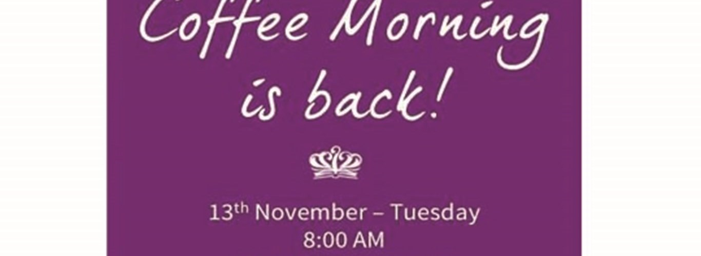 Coffee Morning is Back!