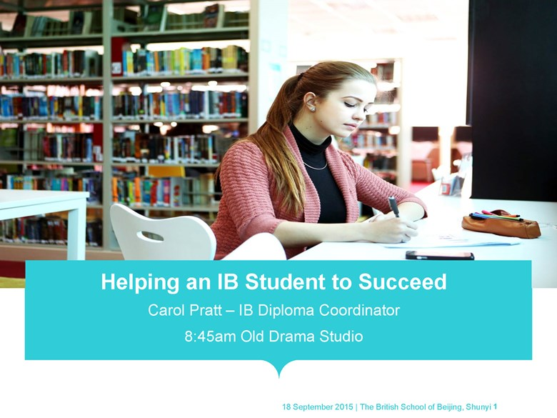 Helping an IB Student to Succeed