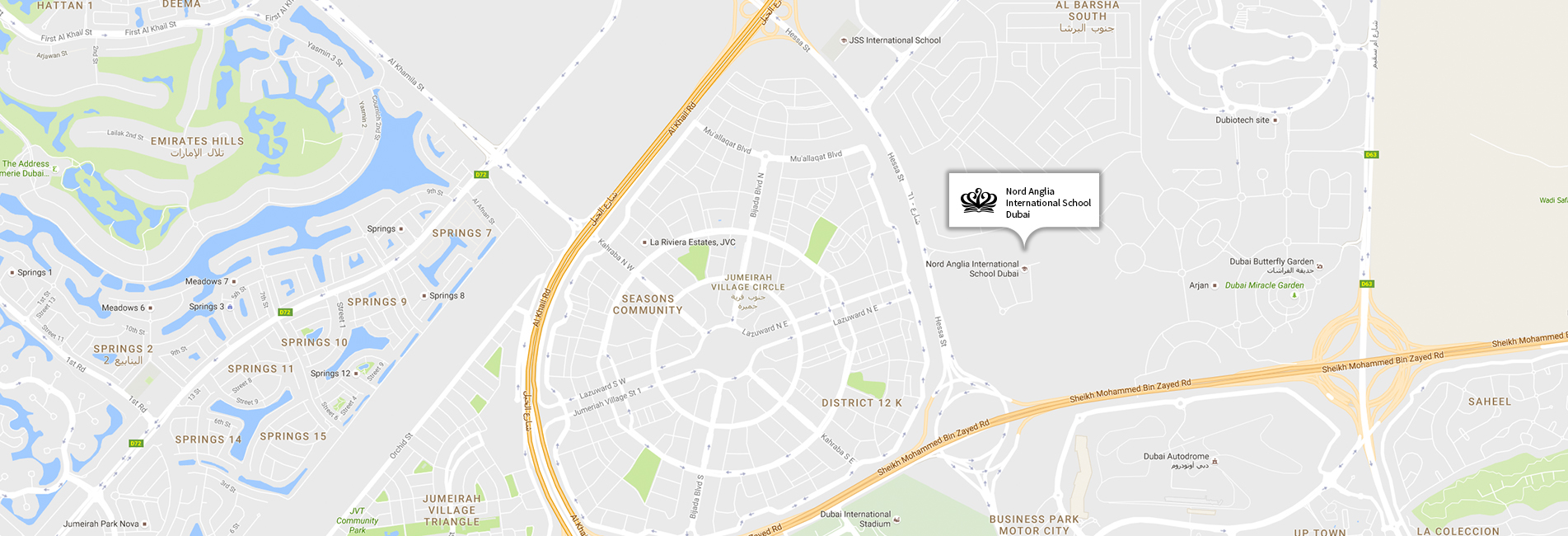 Nord Anglia International School Dubai Map Location