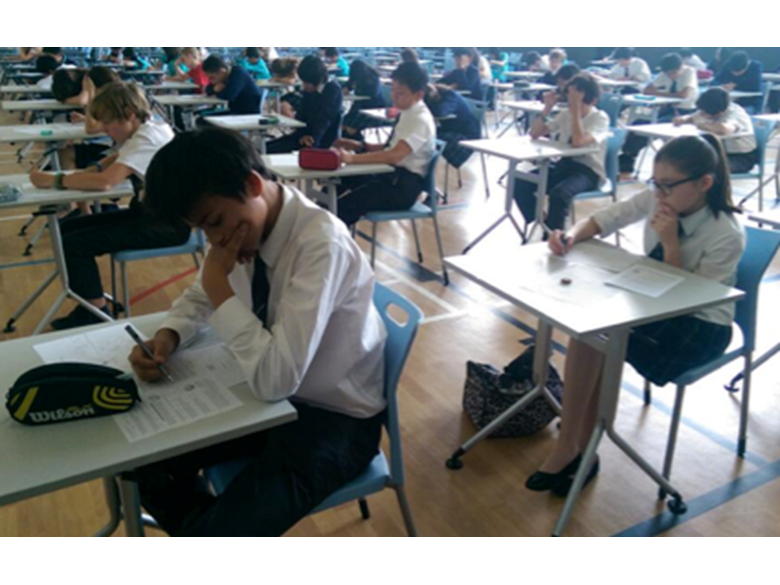 BISS Puxi students taking part in the Junior Mathematics Competition 2014