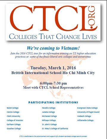 Colleges That Change Lives Tour