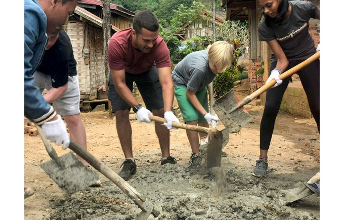 Year 9 Laos Trip 2018 Service Work