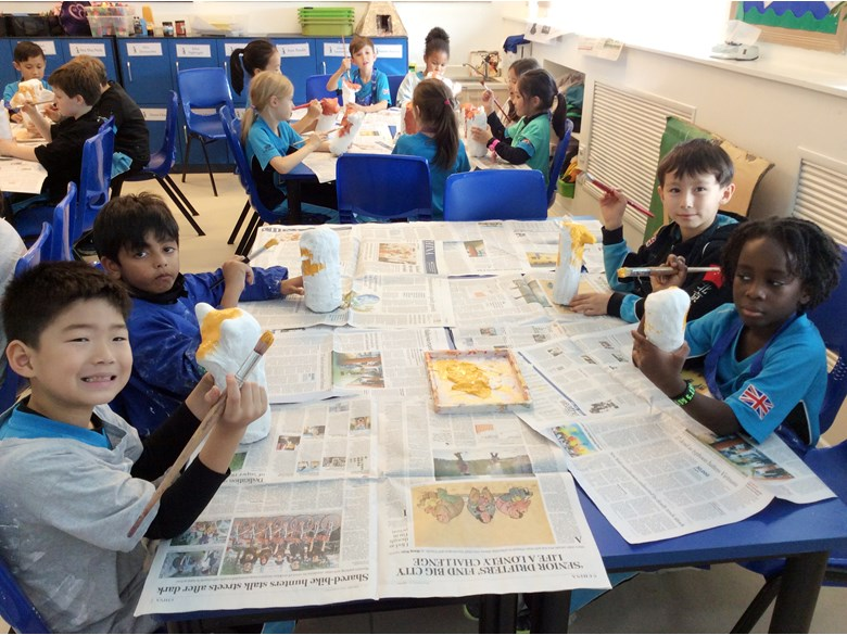 Y3 creating Canopic jars