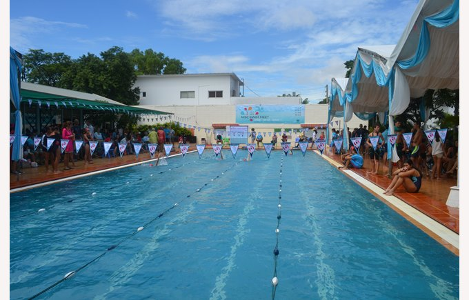 25-meter long by 6-lane wide competition size Swimming Pool