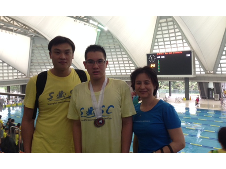 Jason from the British International School Shanghai, Puxi swam brilliantly at the Mantas invitational swim meet in Hong Kong