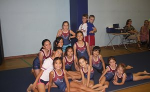 Gymnastics team of mixed boys and girls