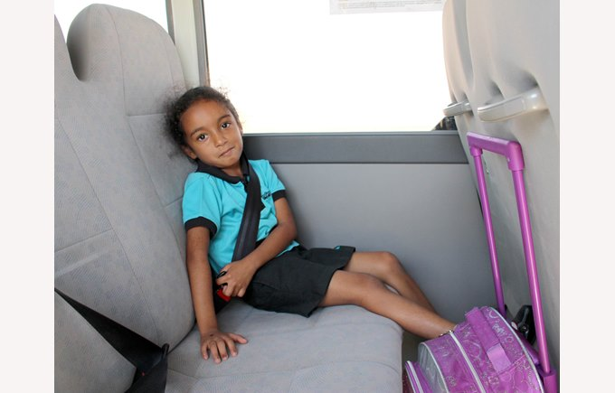 Girl in bus