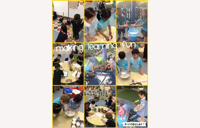 Reception making learning fun