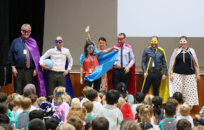 Vision Heroes at Primary Assembly