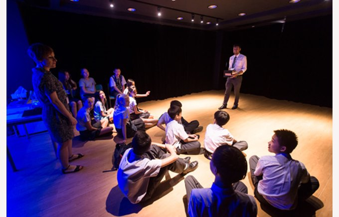 Secondary students in drama