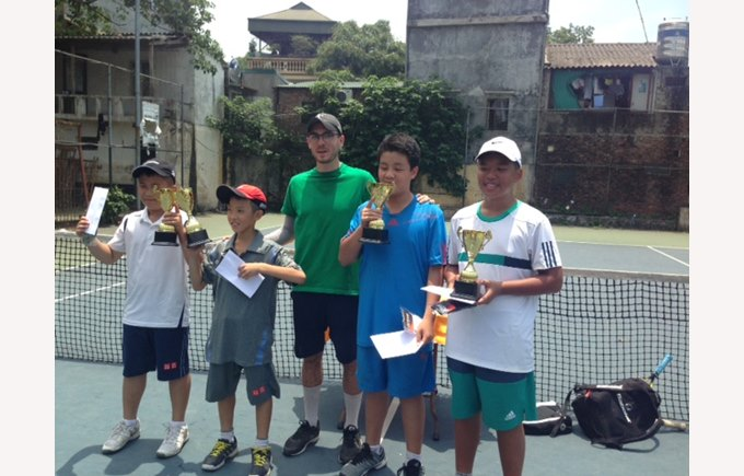 British International School Hanoi tennis champions