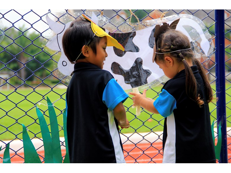 Kids outdoors at Regents International School Pattaya