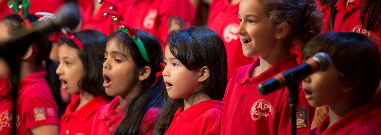 Junior Choir in Red Shirts